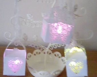 Little lanterns with colour lights battery with spare battery