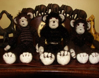 Custom knitted Monkey Adult collectable '