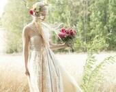Coralie Beatrix Original Lace Infinity Wrap Dress - Custom Combine Fabrics, Size, and Length~ Wedding Gown, Guest, Bridesmaids, Maternity