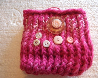 Fushia and pink  Mini  Knit Bag and gadget case