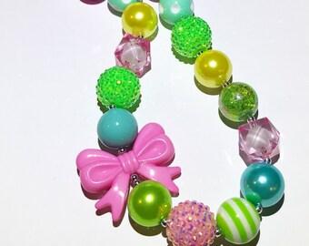 Spring Blitz Chunky Bubblegum Necklace