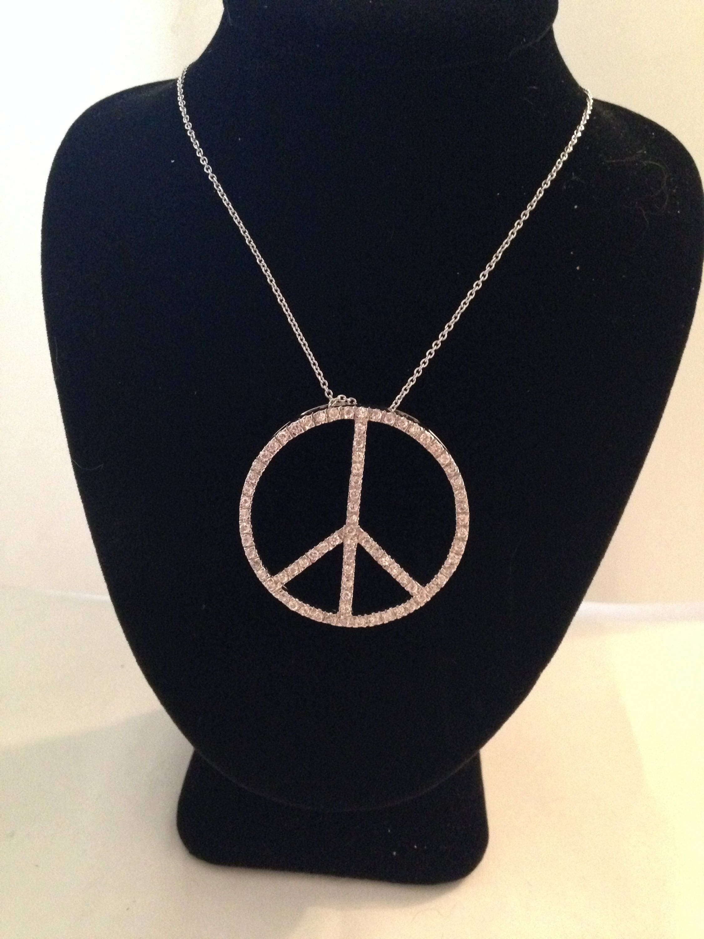 jewelry peace sign elisa turquoise necklaces gem and pendant img necklace home solomon