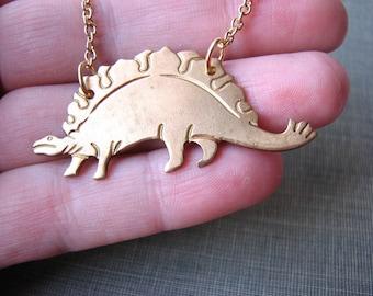 stegosaurus necklace - dinosaur jewelry
