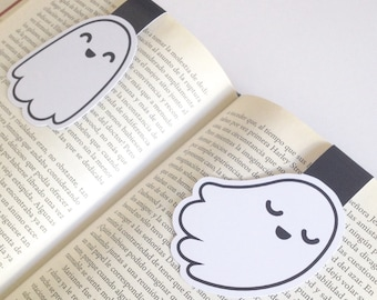 Super non scary Ghosts  Magnetic Bookmarks -  Ghost Bookmarks - Double Sided