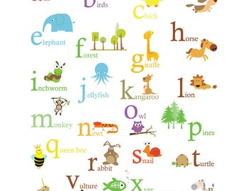 Alphabet Poster -Primary Colors