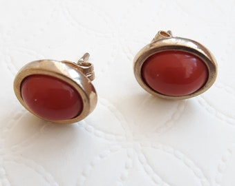 Antique Earrings in Coral years 1980