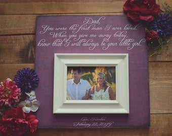 Custom Parent Wedding Frame, All That We Are and All That We Hope To Be, Mother Father of the Bride, Parents Thank You Gift