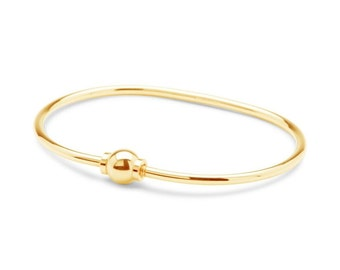 The Beach Ball Bracelet Solid 14k yellow gold screwball bracelet Size 7 . Made on Cape Cod Ships from Cape Cod