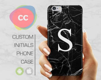 Custom iPhone 7 Case - Custom Initials Samsung Galaxy - iPhone 6 Case - iPhone 5S Cases - Samsung S8 S7 S6 - iPhone 8 Case - PC-247