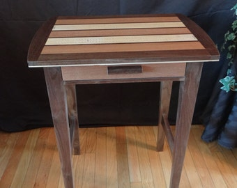 Cribbage Board Side Table, Cribbage Table, Cribbage Board Table , Games Table, Side Table. Table for Cribbage