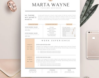 Resume Template 3 Pages For Fashion Designer   CV Template U0026 Cover Letter  For MS Word