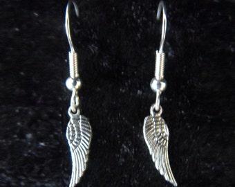 Wings / Feather earrings in silver