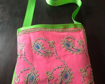India inspired tote bag with sparkles