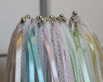 20 sticks 2 pastel ribbons, lace and Bell (Bell)