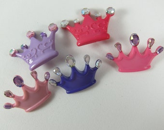 Princess Crowns Novelty Buttons