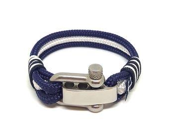 Bran Marion Adjustable Shackle Nautical Bracelet  | Beach Bracelet | bracelet nautique | pulsera hombre | Schäkel Armband
