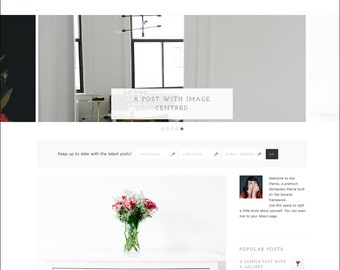WordPress Theme - Genesis Child Theme - Responsive WordPress Theme - Blog theme template: Klar