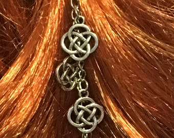 Celtic Knot Hair Jewelry / Celtic Knot Hair Accessory / Celtic Knot Bracelet