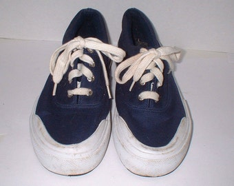 Cherokee Navy Blue Sneakers Boat Shoes Size 7 VGC