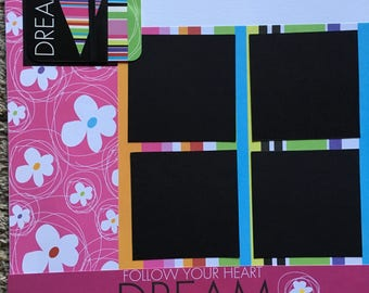 Dream - 12 x 12 Premade Scrapbook Pages