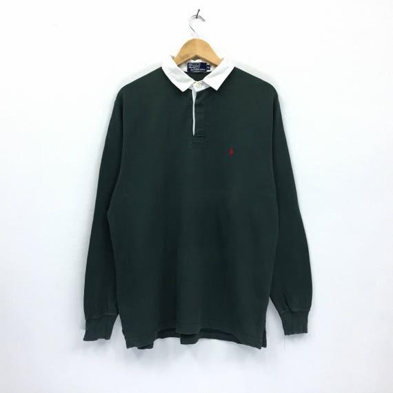 Rare!!Vintage Polo Ralph Lauren Sweatshirt PRl Small logo half zipped Sweatshirt Hip Hop Swag Lo life Black mcivb3TWT6