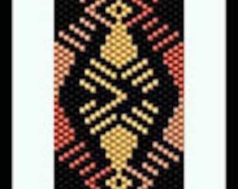 Bead Pattern - Shades of Copper Bracelet - Odd count peyote stitch