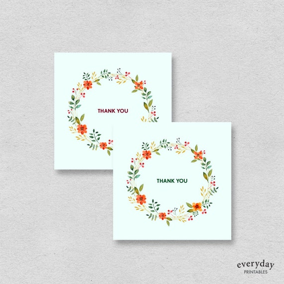 small thank you card template