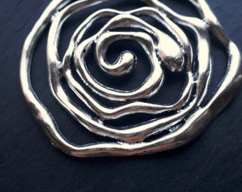 Large Swirling Circles Necklace