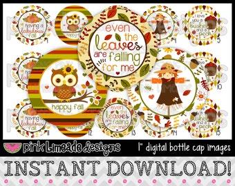 "Fabulous Fall - INSTANT DOWNLOAD 1"" Bottle Cap Images 4x6 - 707"