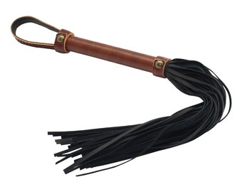 Bondage Flogger, Genuine Brown Leather, Whip, leather whip, BDSM, bdsm whip (mature)