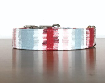 Dog Collar, New Puppy Gift, Dog Collars, Martingale Dog Collar, Boyish Dog Collar, Boy Dog Collar, Striped Dog Collar, Male Dog Collar