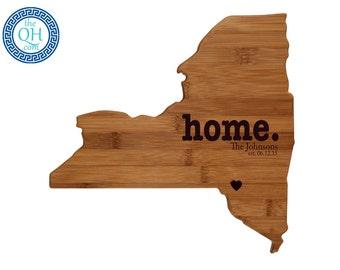 New York Personalized Cutting Board | Home | Custom Housewarming or Unique Wedding Gift