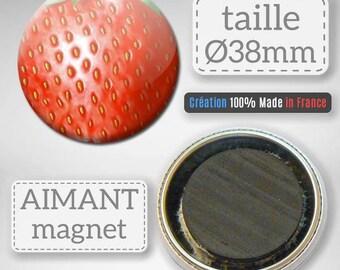 Magnet magnet Fruit Strawberry gift 38 mm Badge
