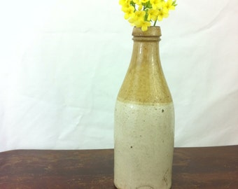 RESERVED PACKAGE On Sale 1800s Antique Stoneware Ginger Beer Bottle- H Kennedy Barrowfield Glasgow Pottery Bottle