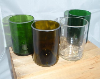 Recycled Wine Bottle Glasses