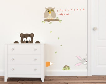 Nursery Wall Decals, Childrens Wall Decal, Kids Wall Stickers, Animal Wall Decals