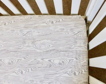 Wood Grain Fitted Crib sheet, woodland crib sheet, fitted crib sheet, crib sheet, woodland nursery, woodland,  baby bedding, crib bedding