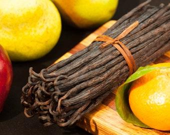 50 Premium Gourmet Vanilla Beans - Madagascar Bourbon, Fresh & Prime Grade A for Vanilla Extract and Baking (50 BEANS)
