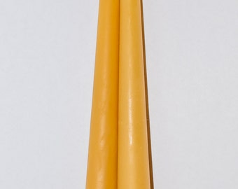 2 Handmade Pure Beeswax Taper Candles (1.91 cm x 20.32 cm)