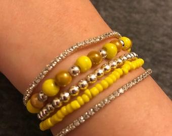 Sparkle Stack beaded bracelet