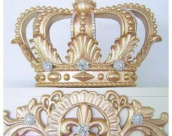 Golden Glam Bed Crown Canopy Teester Vintage Hollywood Look Princess Party  Dessert Table Decor/Baby