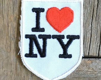 I Love New York City Vintage Souvenir Travel Patch from Voyager