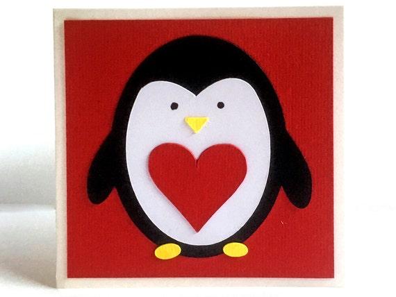Penguin Valentine Cards, Classroom Valentines For Kids, Kids Valentines Day  Cards, Kids Valentine Cards, School Valentines, Set Of   10