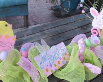 5' Easter Garland Easter Table Decor Easter Centerpiece Happy Easter Bunny Chick Table Decor Easter Egg Mantel Garland Happy Easter Decor