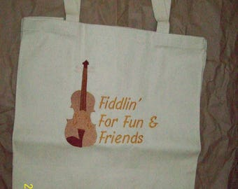 Fiddlin'Around Canvas Tote Bag