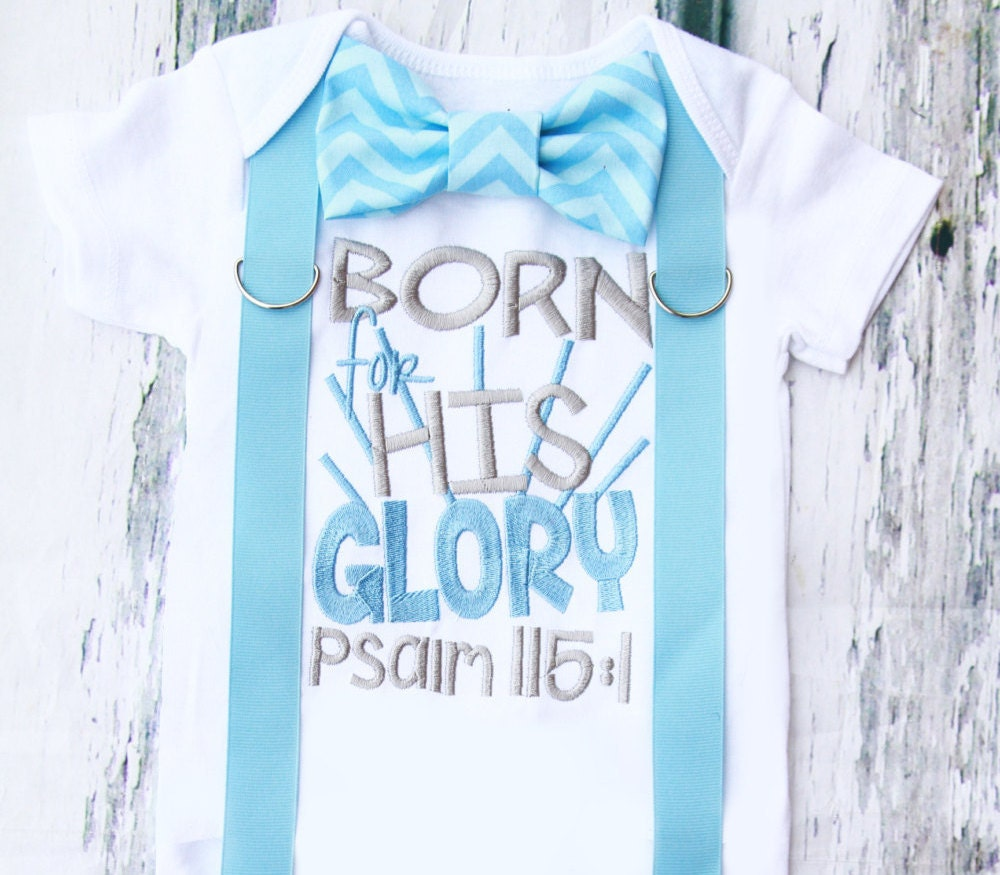 Baby boy christian onesie born for his glory psalm 1151 zoom negle Image collections