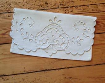 Vintage. Envelope towel 14x24cm, Richelieu on wire