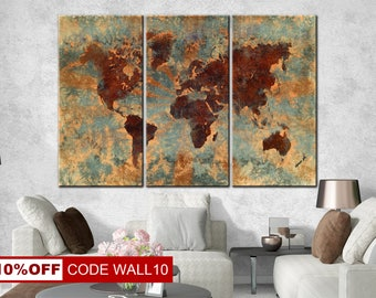 World Map Print, World Map Canvas, World Map Canvas, Large world map art, Home Decor, World Map Poster, Canvas map of the world, World Map