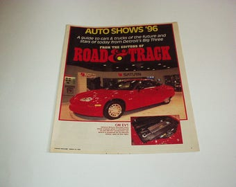 1996 AUTO SHOWS '96 From The Editors of Road & Track Magazine from Parade (A Guide to Awesome Cars and Trucks of the Future) New, Rare