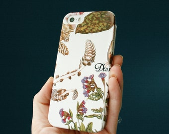 iPhone Case, Vintage Botanical iPhone SE Case Floral iPhone 7 Case Botanical Print iPhone 8 Plus Case X